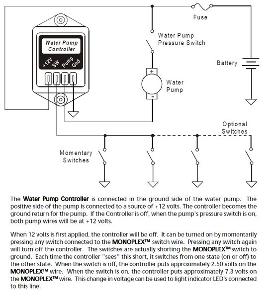 Water Pump Wiring Schematic