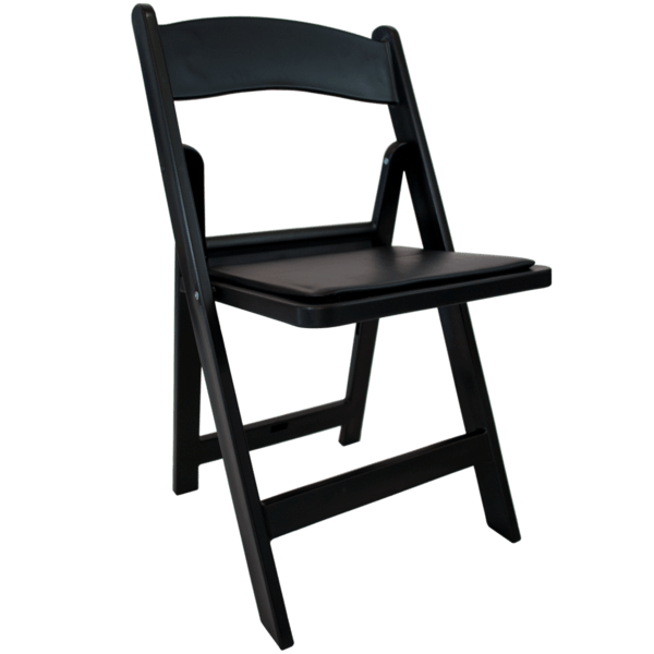 Black Padded Folding Chair Rental Phoenix  Table and