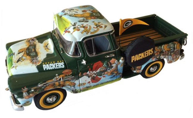 Collector Series Die Cast Green Bay Packers Fan Pickup