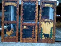 custom carved screen door | Otter Lake Rustics Adirondack ...