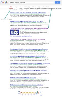 Google Results (click to embiggen)