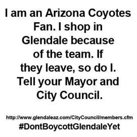I am an Arizona Coyotes fan