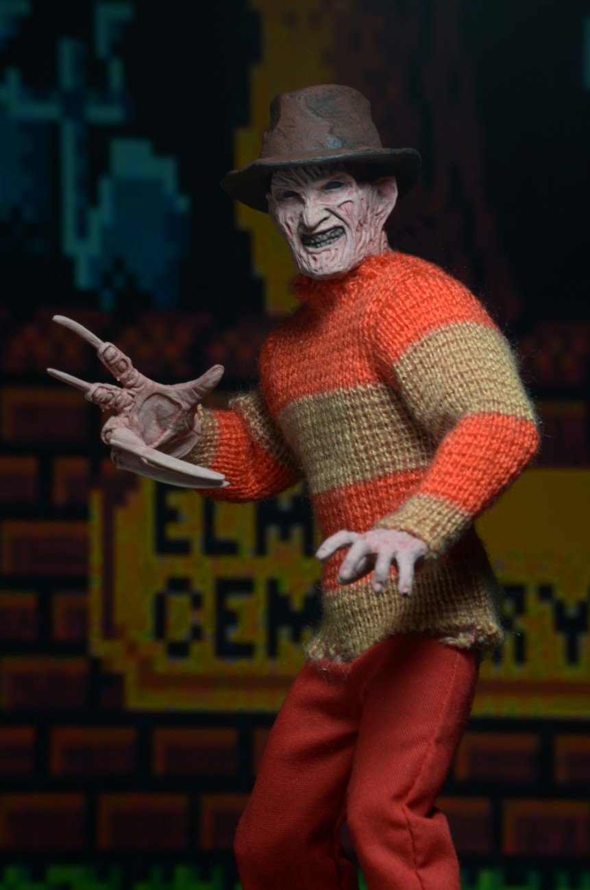 Toys R Us Exclusive  Nightmare on Elm Street Clothed Video Game Freddy Figure  NECAOnlinecom
