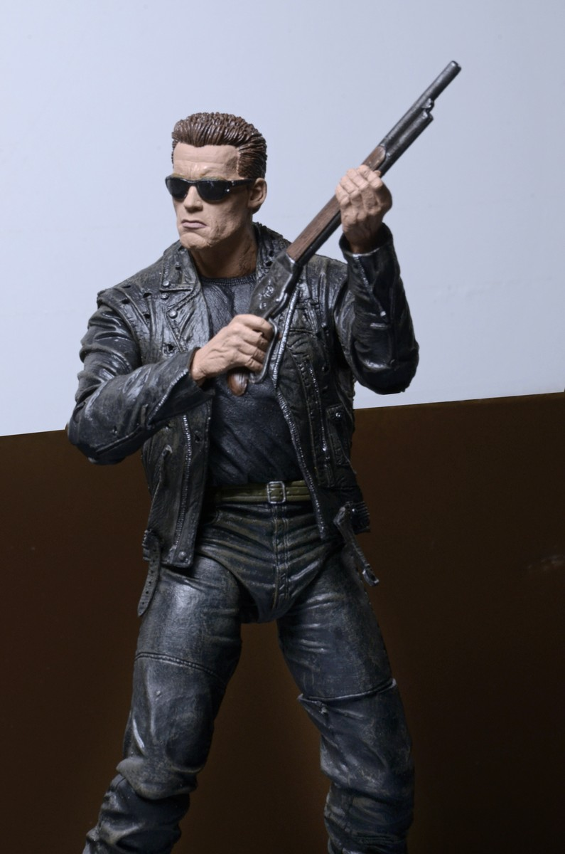 DISCONTINUED  Terminator 2  7 Scale Action Figure  T800 25th Anniversary 3D release