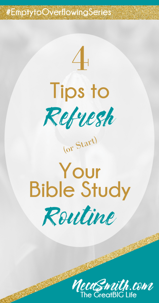 Bible Study is the key to a flourishing relationship with Christ and a vibrant spiritual life. Learn more about how to refresh your bible study routine.