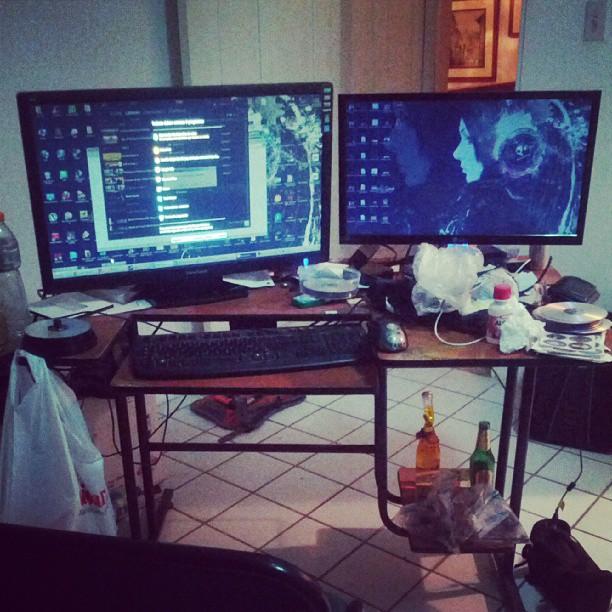 """Se ve gigante el nuevo monitor de 27"""" del amigo @fortman de @cartimexsa"""