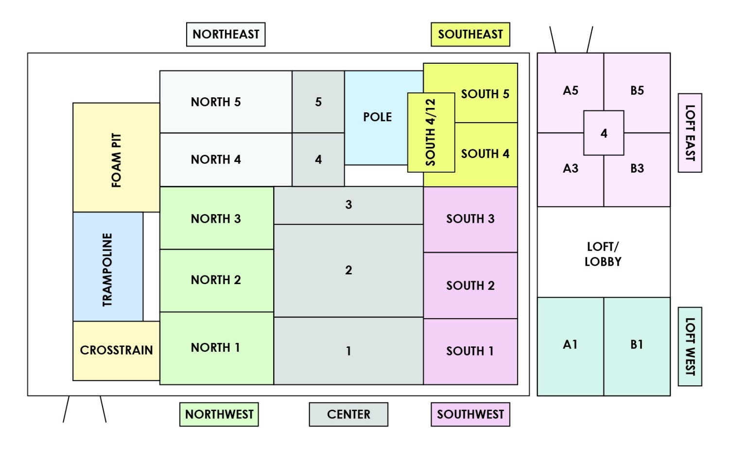 photo of the layout of the NECCA training studio