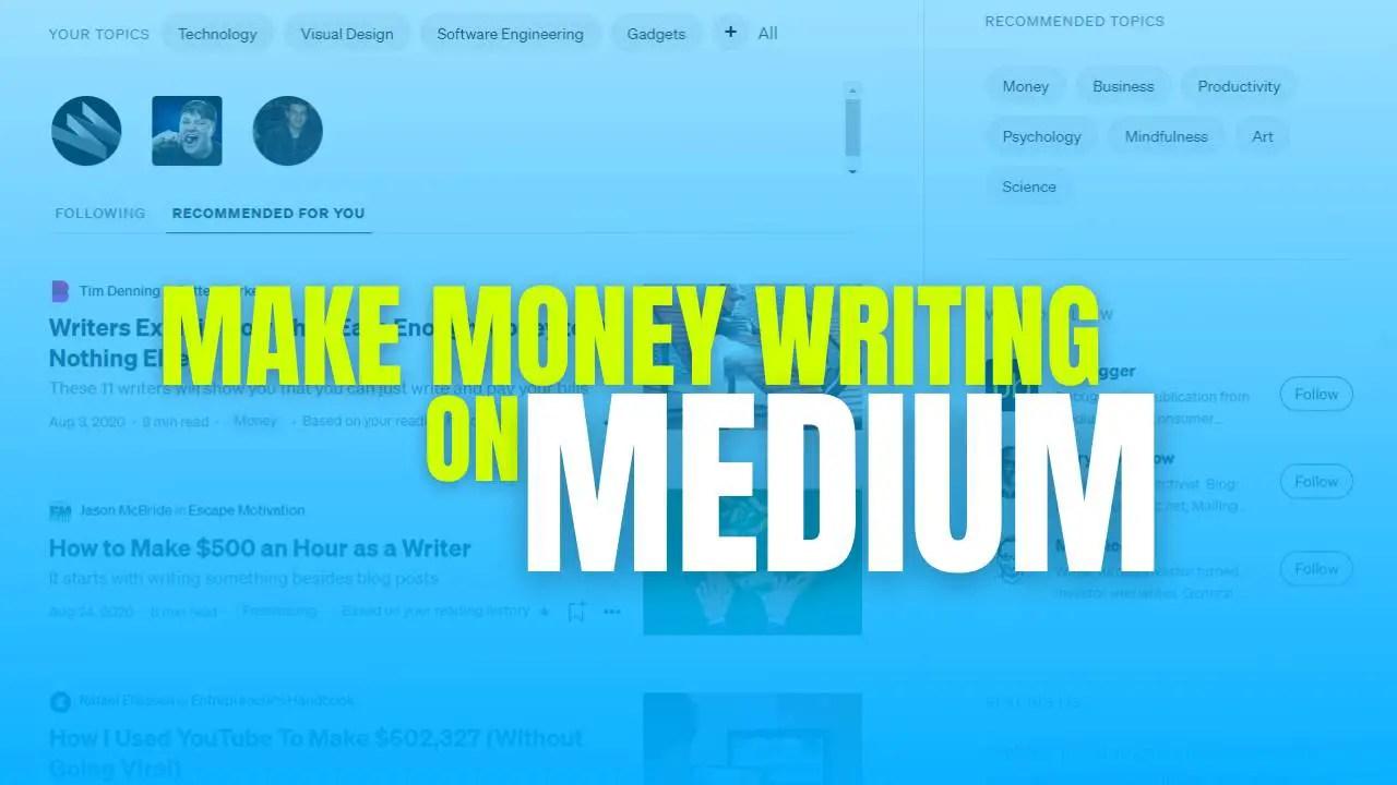 Make money on Medium