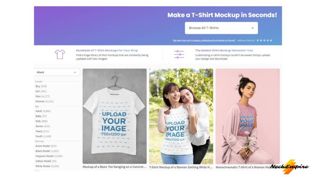 browse Placeit mockups