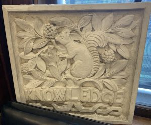 """Knowledge"" plaque"
