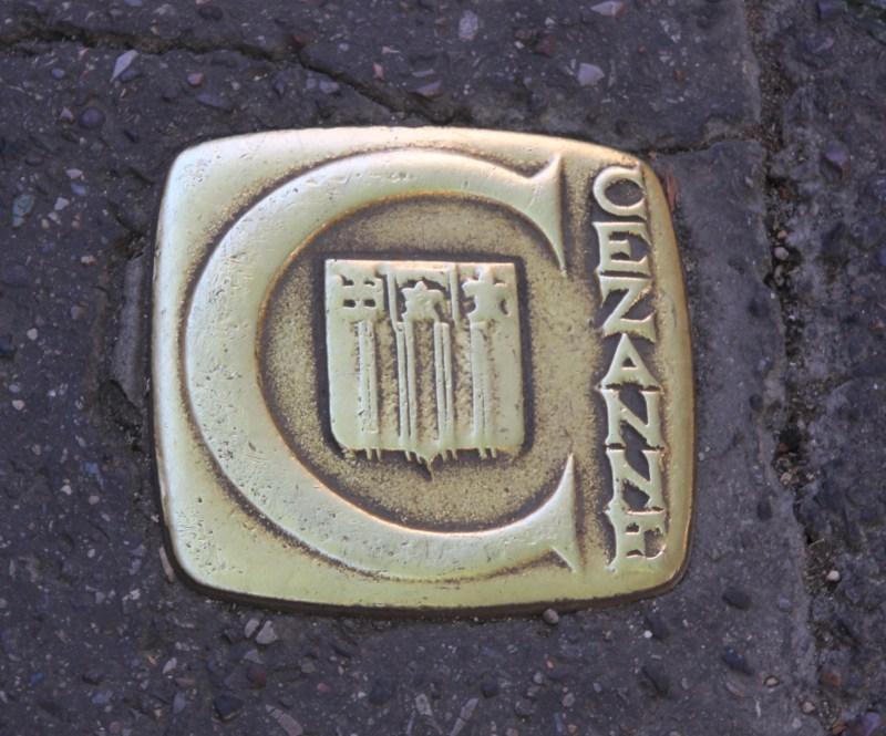 Cezanne sidewalk marker