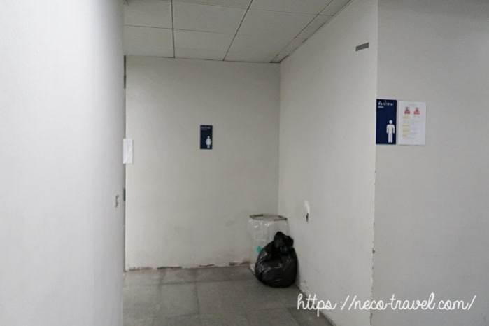 マッカサン駅トイレ