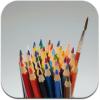 水彩色鉛筆 | 3点ブラシで塗りやすい色鉛筆など豊富な画材を楽しめるペイントアプリ