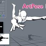 ArtPose 1.5 バージョンアップ | 3Dデッサン人形モデルをアウトライン表示する漫画に最適な表示モードを追加