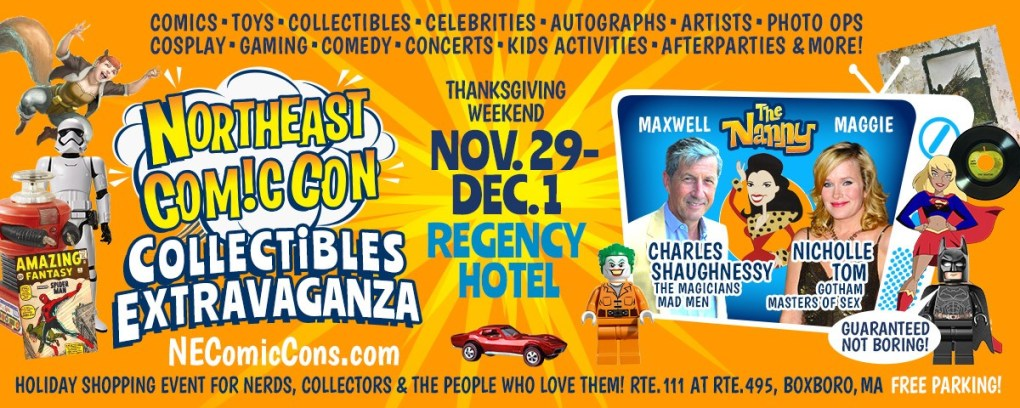 Charles Shaughnessy and Nicholle Tom from The Nanny at NEComicCon