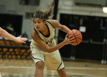 Bryant's Breanna Rucker is averaging a double-double this season with 15.3 ppg and 11.0 rpg.