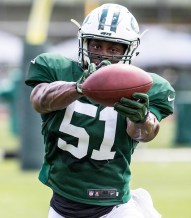 Former All-NEC linebacker Julian Stanford is entering his second season with the New York Jets. (PHOTO - @nyjets)