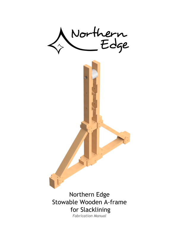 Stowable Slackline A-frame – Northern Edge Crew