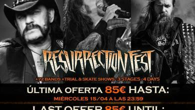Photo of RESURRECTION FEST 2015, últimos días de entradas al precio de 85 €