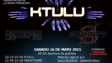 Photo of [CRONICAS LIVE] KTULU + SOKRITT + HEKATOMBE – Sala Boveda 16.05.2015 Barcelona