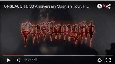 Photo of [GIRAS Y CONCIERTOS] ONSLAUGHT – Promo Video de su próxima gira española (Aurum Management)