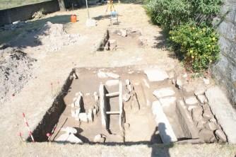 Imagen final de los dos Sondeos, antes de su reenterramiento mañana