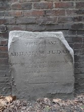 The Grave of ABRAHAM JUDAH Son of BERNARD & CATHERINE JUDAH died Feb. 26, 1825; aged 14 years 11 months and 7 days.