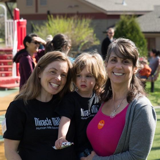 NEC Society founder Jennifer Canvasser (left) at the Ann Arbor Milk Stroll.