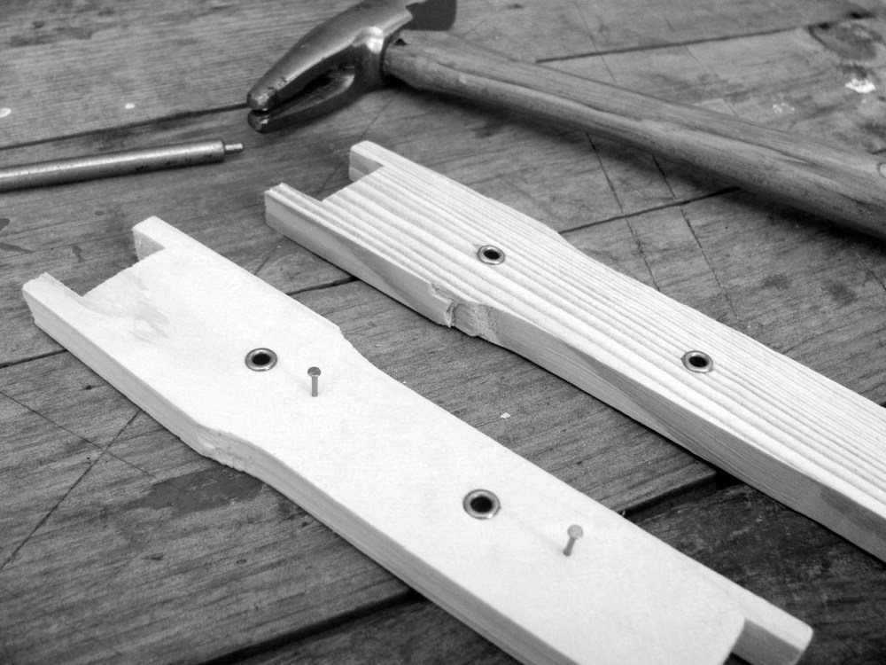 medium resolution of it is easiest to prepare your frame for wiring before assembly using your eyelet punch insert eyelets into each of the predrilled holes on your frame side