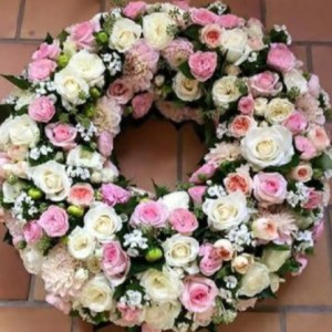 Funeral Round Roses Wreath