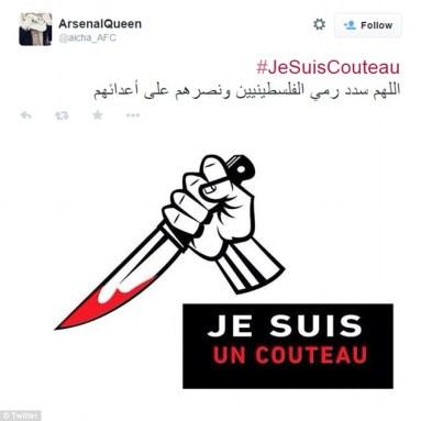 اوج گرفتن هش تگ «من هم چاقو هستم» بین مسلمین پس از حمله چاقویی یک فلسطینی به ۱۱ شهروند اسرائیلی+تصایری از این واقعه هولناک....ادامه مطلب را در این وبلاگ ببینید