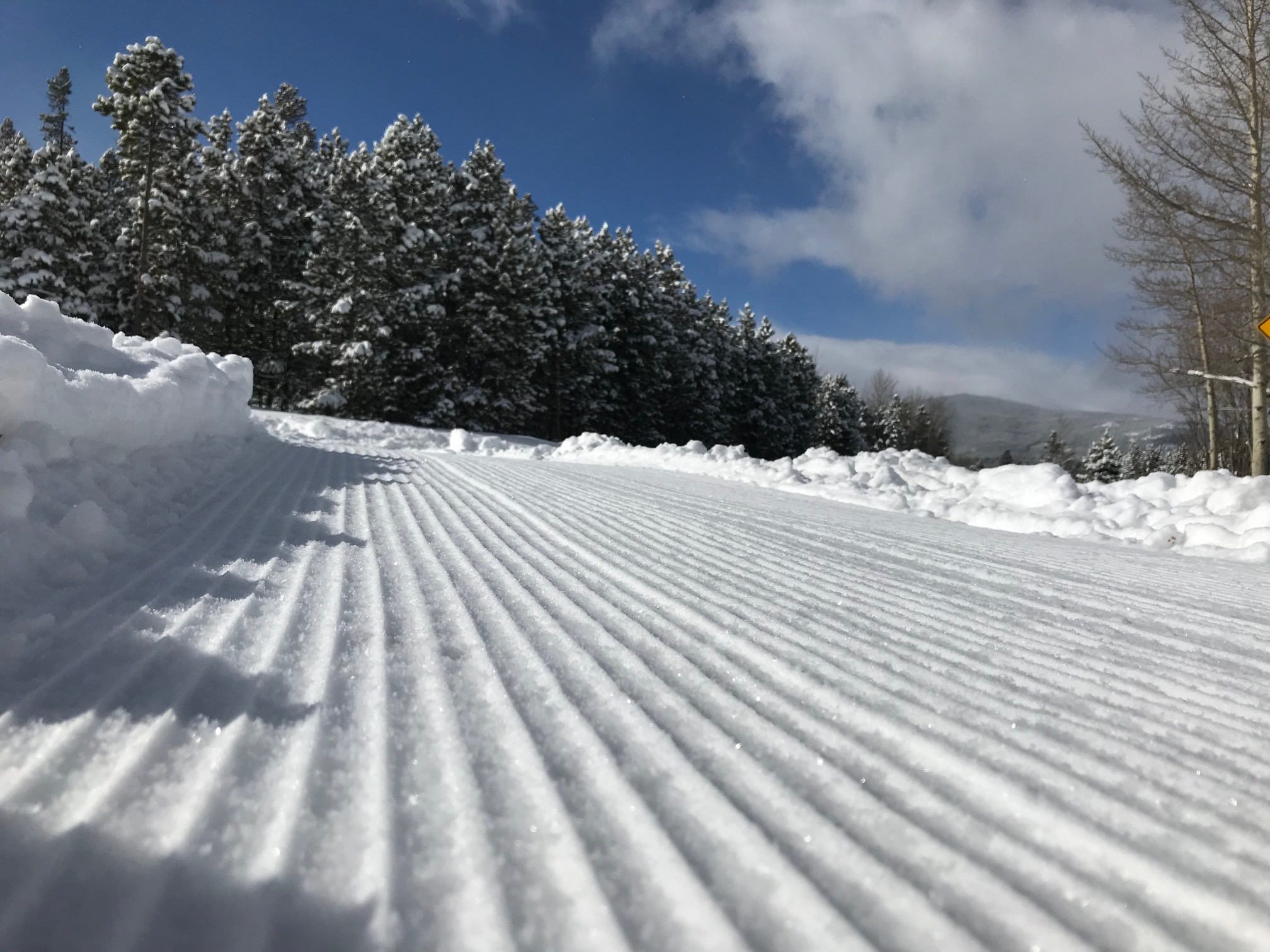 Fresh Nordic Trail Grooming On West Mag
