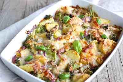Aardappel ovenschotel met broccoli