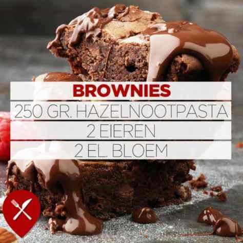 Brownie met 3 ingrediënten
