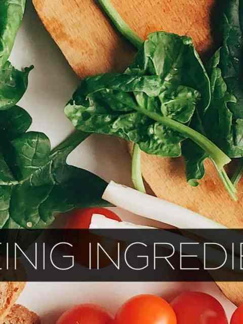 Recepten weinig ingredienten