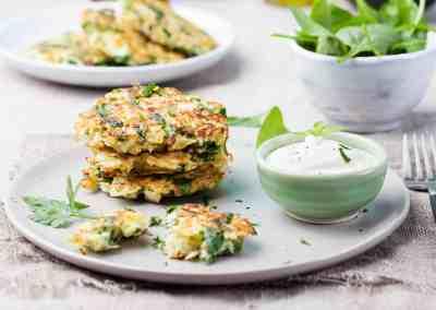 Spinazie koekjes met feta kaas