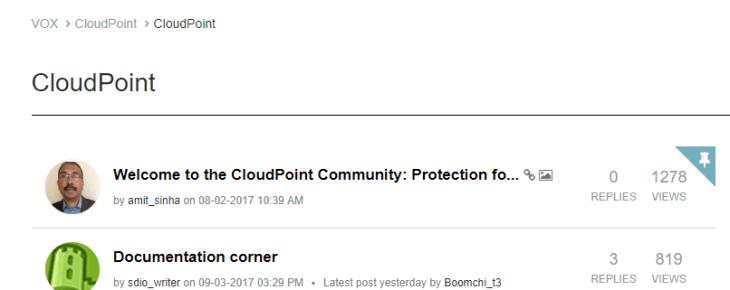 Machine generated alternative text: VOX CloudPoint