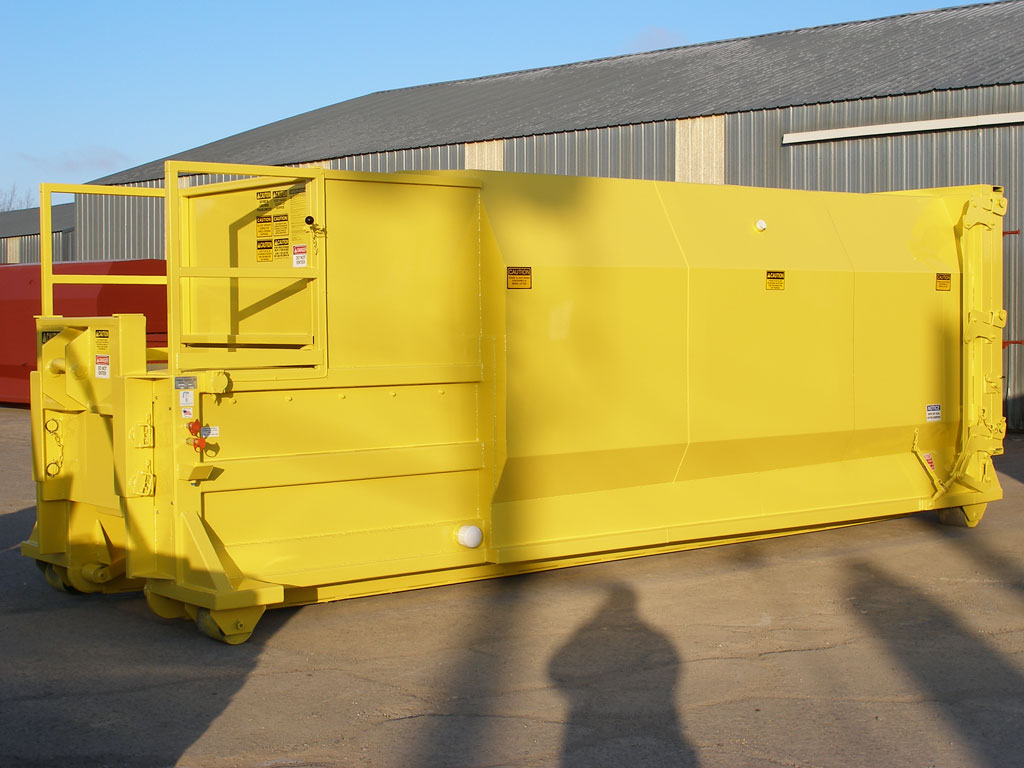 hight resolution of 30 cubic yard self contained compactor
