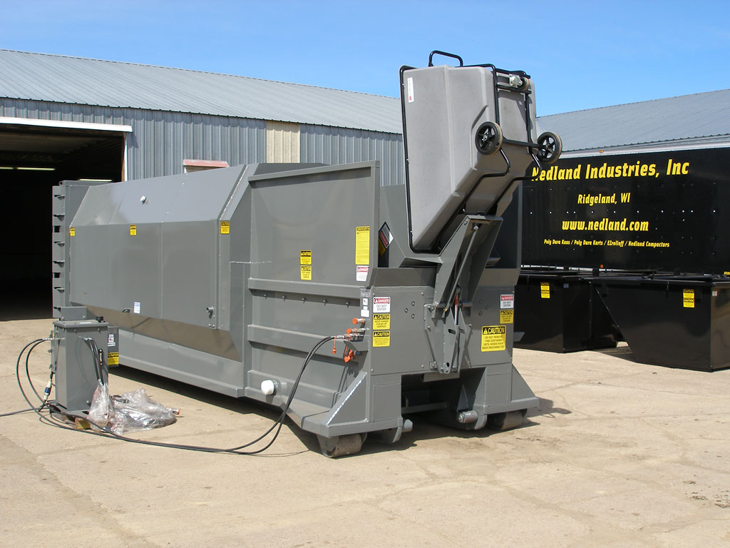 hight resolution of self contained commercial trash compactors