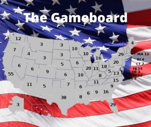 The Electoral College Game – The Game Board