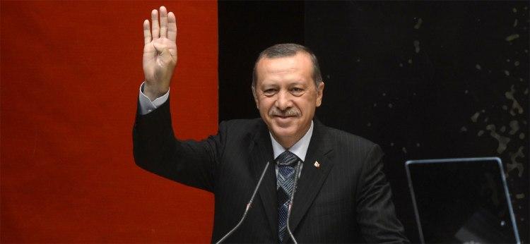 Turkey's dictator Recep Tayyip Erdoğan. Photograph: Wikipedia.