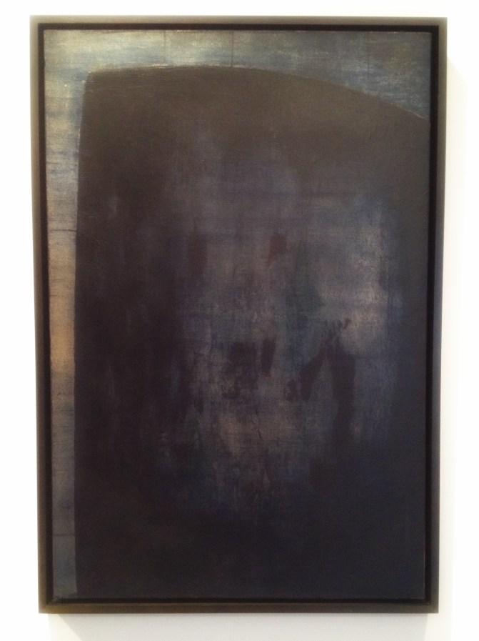 """Komposisjon"", 1961, Anna-Eva Bergman (1909–1987). Olje på lerret, 54 x 81 centimeter."