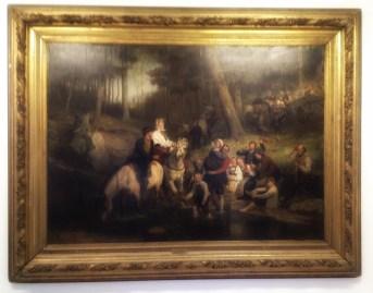 """Bryllupstoget gjennom skogen"", 1873 Adolph Tidemand (1814–1876). Olje på lerret."