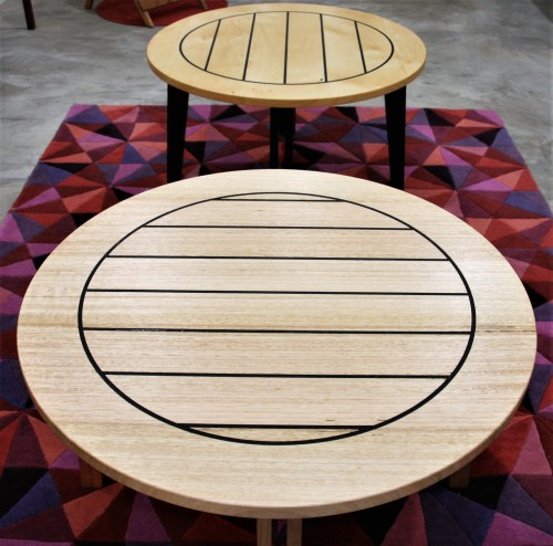 Huon Pine and Tas Oak tables made by Ned Trewartha