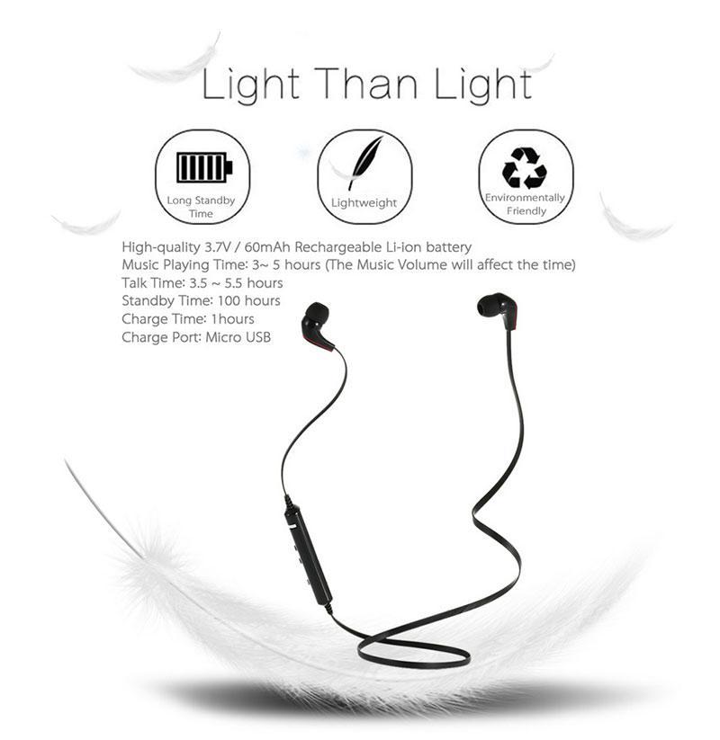 X7 Wireless Stereo Bluetooth 4.1 Headset Sport Earphone In