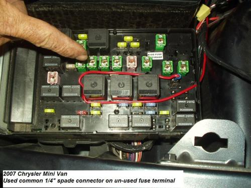 small resolution of fuse box 2007 chrysler town and country wiring diagram details 2007 chrysler town and country fuse box location