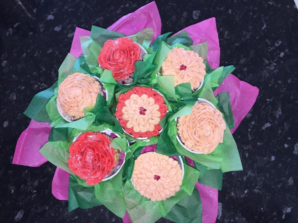 Gluten Free Vegan Cupcake Bouquet