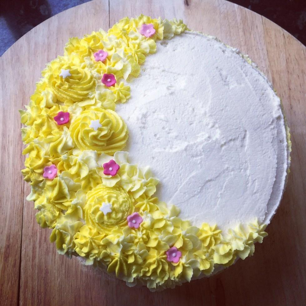 Lemony & Poppy Seed Gluten Free Vegan Celebration Cake