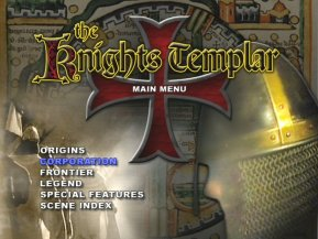 The Knights Templar DVD menu