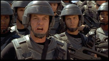 Michael Ironside and Casper Van Dien from Starship Troopers